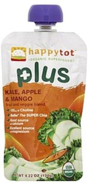 Happy Tot Kale, Apple & Mango Fruit and Veggie Blend - 4.22 oz
