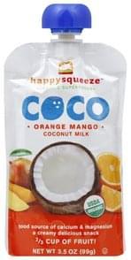 Happy Squeeze Coconut Milk Orange Mango