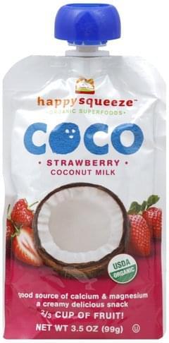 Happy Squeeze Strawberry Coconut Milk - 3.5 oz