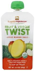 Happy Squeeze Fruit & Veggie Twist Apple Mango Kale