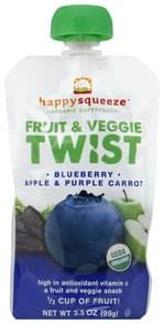 Happy Squeeze Fruit & Veggie Twist Blueberry Apple & Purple Carrot