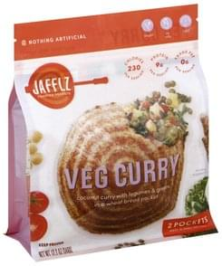 Jafflz Toasted Pockets Veg Curry