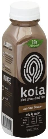 Koia Plant-Powered, Cacao Bean Protein Drink - 12 oz