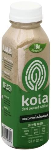 Koia Plant-Powered, Coconut Almond Protein Drink - 12 oz