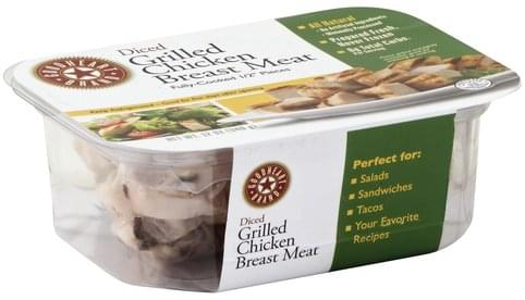 Goodheart Brand Grilled, Diced Chicken Breast Meat - 12 oz