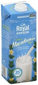 Royal Hawaiian Macadamia Milk Unsweetened, Vanilla