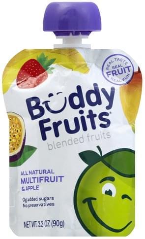 Buddy Fruits Multifruit Blended Fruits - 3.2 oz