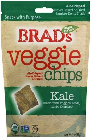 Brads Kale Veggie Chips - 3 oz