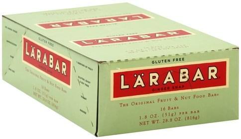 Larabar Fruit & Nut, Ginger Snap Food Bars - 16 ea