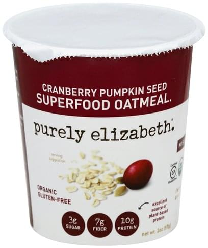 Purely Elizabeth Superfood, Cranberry Pumpkin Seed Oatmeal - 2 oz
