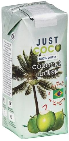 Just Coco 100% Pure Coconut Water - 11.1 oz