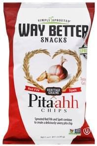 Way Better Pita Chips Toasted Garlic