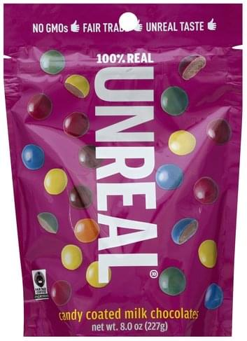 Unreal Candy Coated Milk Chocolates - 8 oz