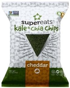 SuperEats Chips Kale + Chia, Cheddar