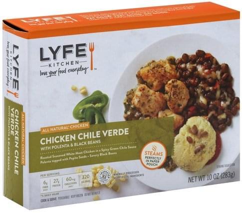 Lyfe Kitchen with Polenta & Black Beans Chicken Chile Verde - 10 oz