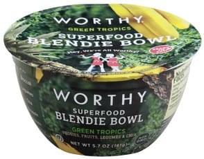 Worthy Blendie Bowl Superfood, Green Tropics