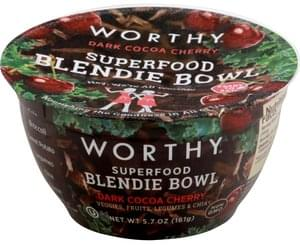 Worthy Blendie Bowl Superfood, Dark Cocoa Cherry
