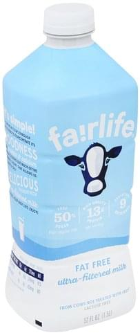 Fairlife Ultra-Filtered, Fat Free Milk - 52 oz