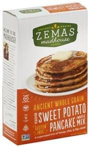 Zemas Pancake + Waffle Mix Gluten Free, Premium Sweet Potato