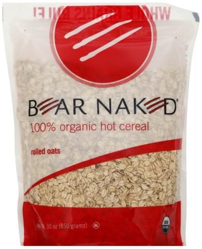 Bear Naked 100% Organic, Rolled Oats Hot Cereal - 30 oz