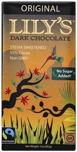 Lilys Original, 55% Cocoa Dark Chocolate - 3 oz