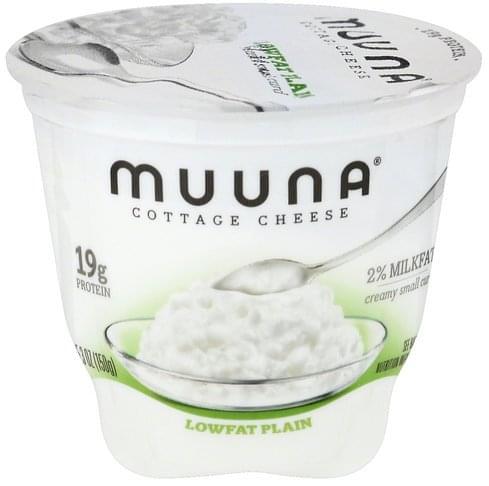 Muuna Creamy Small Curd, 2% Milkfat, Lowfat, Plain Cottage Cheese - 5.3 oz