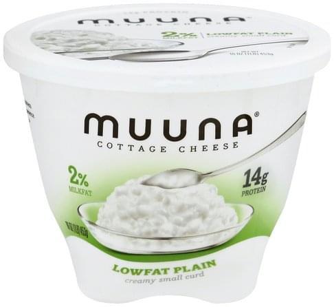 Muuna Creamy Small Curd, 2% Milkfat, Lowfat, Plain Cottage Cheese - 16 oz