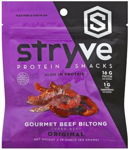 Stryve Gourmet, Original Beef Biltong - 2.5 oz