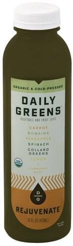 Daily Greens Rejuvenate Vegetable and Fruit Juice - 16 oz