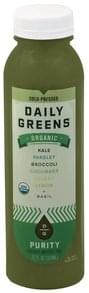 Daily Greens Vegetable and Fruit Juice Organic, Purity