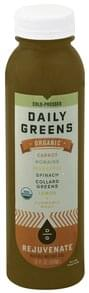 Daily Greens Vegetable and Fruit Juice Organic, Rejuvenate
