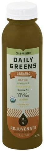 Daily Greens Organic, Rejuvenate Vegetable and Fruit Juice - 12 oz