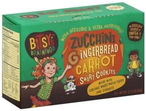 Bitsys Brainfood Cookies Smart, Zucchini Gingerbread Carrot
