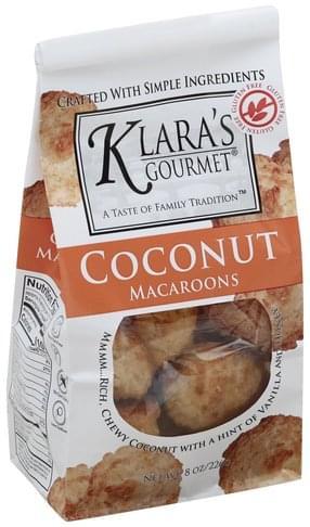 Klaras Gourmet Coconut Macaroons - 8 oz