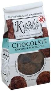 Klaras Gourmet Macaroons Coconut, Chocolate