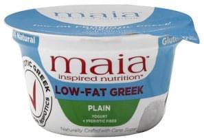 Maia Yogurt Greek, Low-Fat, + Prebiotic Fiber, Plain