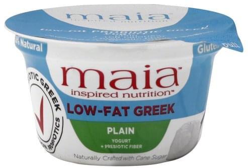 Maia Greek, Low-Fat, + Prebiotic Fiber, Plain Yogurt - 6 oz