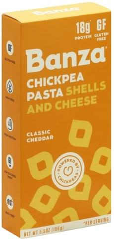 Banza Classic Cheddar Chickpea Pasta Shells and Cheese - 5.5 oz