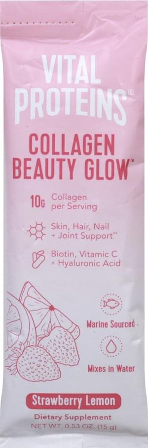 Vital Proteins Beauty Glow, Strawberry Lemon Collagen - 0.53 oz