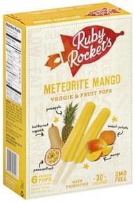 Rubys Rockets Veggie & Fruit Pops Meteorite Mango