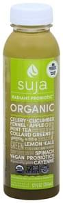 Suja Vegetable & Fruit Juice Drink with Probiotics, Organic, Radiant Probiotic