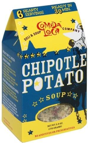 Comida Loca Chipotle Potato Soup - 5 9 oz, Nutrition