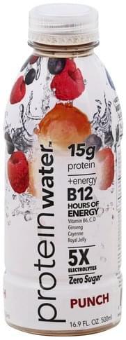 Protein Water Protein, Punch Water - 16.9 oz