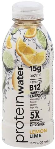 Protein Water Protein, Lemon Lime Water - 16.9 oz