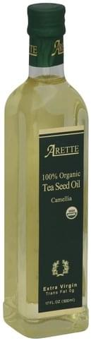 Arette Extra Virgin, 100% Organic Tea Seed Oil - 17 oz