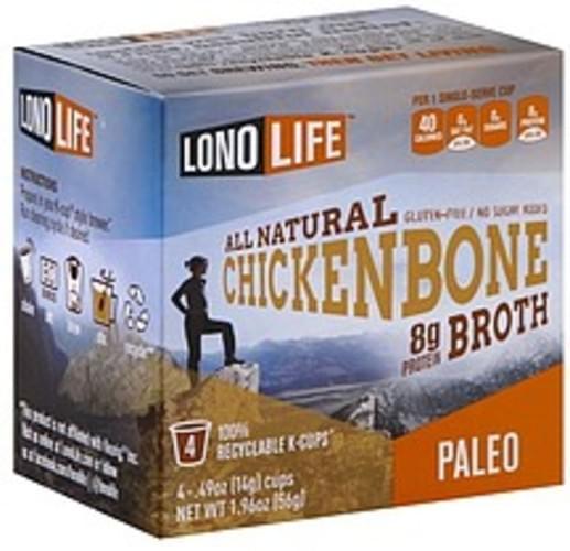 Lono Life Chicken,  K-Cup Bone Broth - 4 ea