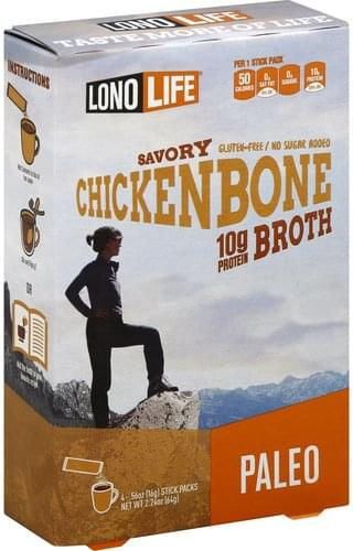 Lono Life Gluten Free, Chicken Bone, Savory Broth - 4 ea