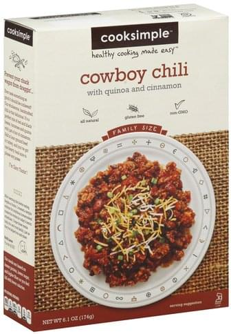 Cooksimple Family Size Cowboy Chili - 6.1 oz