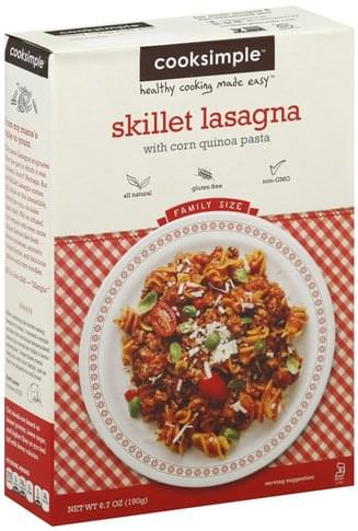 Cooksimple Family Size Skillet Lasagna - 6.7 oz