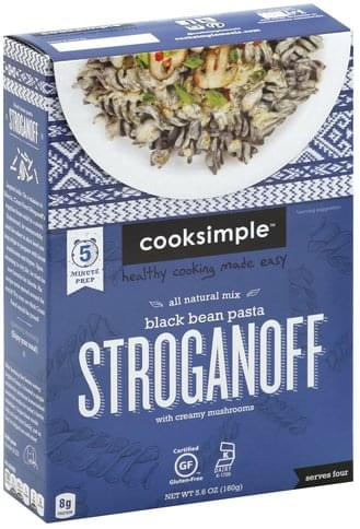 Cooksimple Black Bean Pasta, with Creamy Mushrooms Stroganoff - 5.6 oz